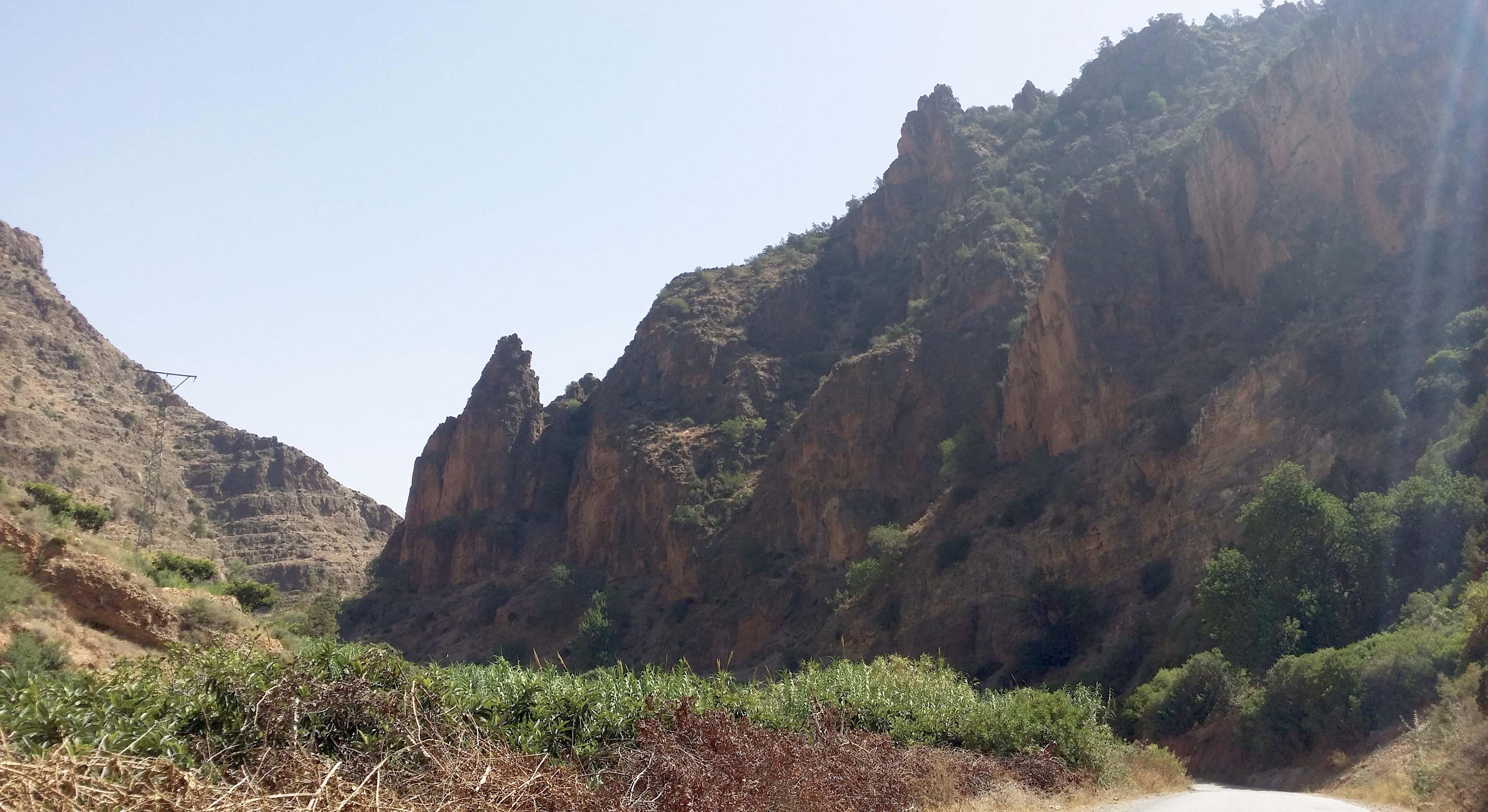 Vallée de Zegzel, montagnes des Beni Snassen.