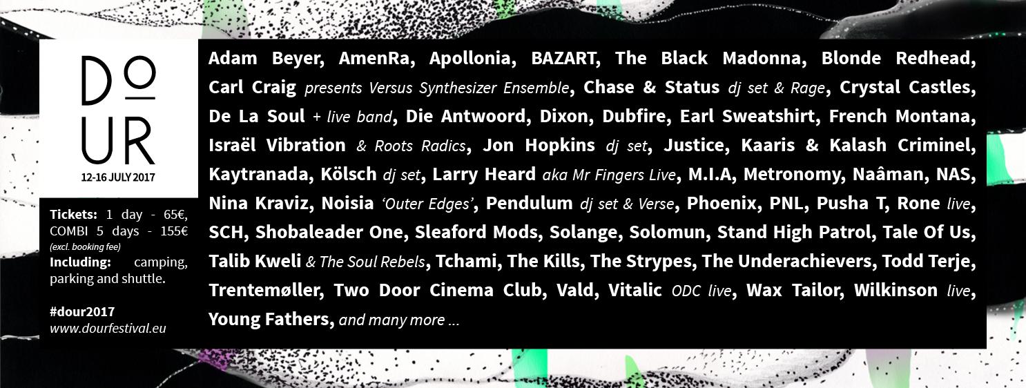 Les artistes hip-hop qui seront de la partie au Festival de Dour.