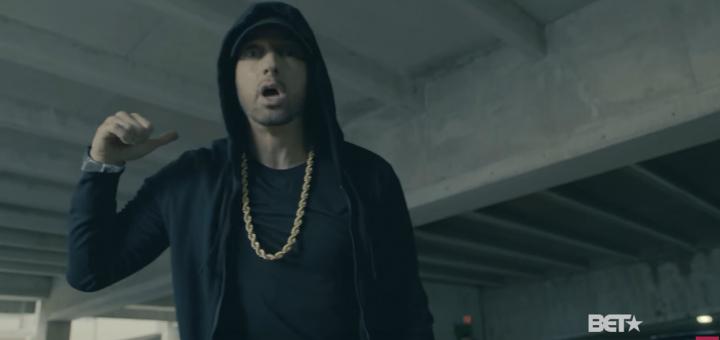 Capture d'écran du freestyle d'Eminem.